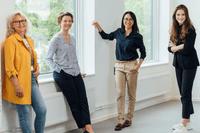 Lone Larsen, Therese Råberg och Silvia Anderchen från Verklighetslabbet och Nellie Skog. Bild: Castellum