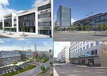 Fyra Centers på tre orter, Malmö, Lund och Helsingborg