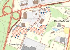 Nyponvägen, Rosendals handelsområde