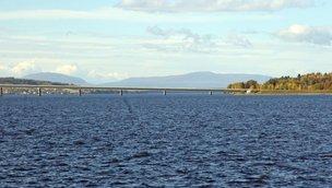 Strålande utsikt från Ringvägen 2, Centrala Östersund, Storsjöstrand