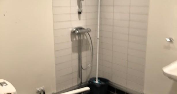 Rullstolsanpassad wc