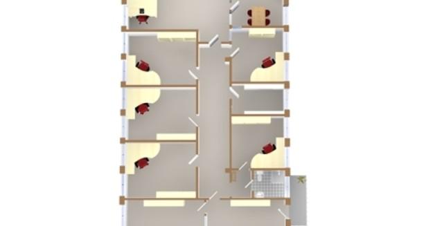 Planlösning Möblerad