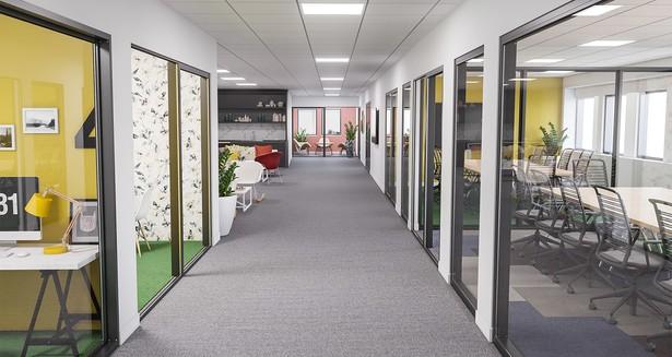 Visionsbild på anpassad kontorslokal
