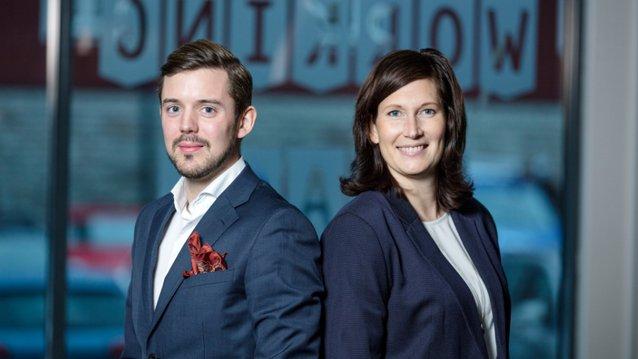 Gustaf Wikblom och Alexandra Norlander Tornberg