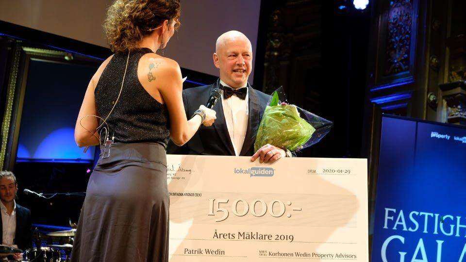 Patrik Wedin, tidigare vinnare i Årets Mäklare. Bild: Lokalguiden