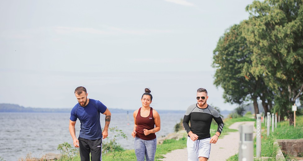 Närhet till promenadstråk och motionsslinga