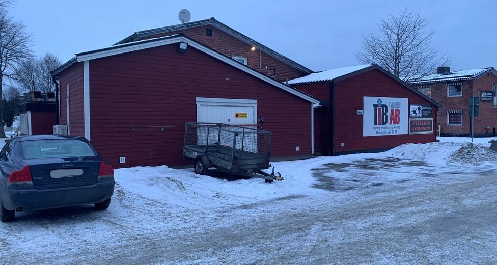 Garageport mot baksidan