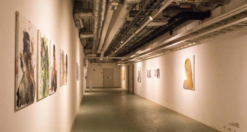 In house art gallery