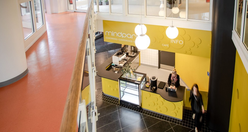 Mindpark Malmö Centralen Slagthuset entré och café