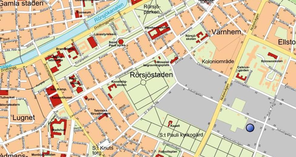 Stadskarta Brännaren 3, Malmö