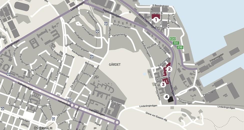 Karta Gärdet fastighet nr4.