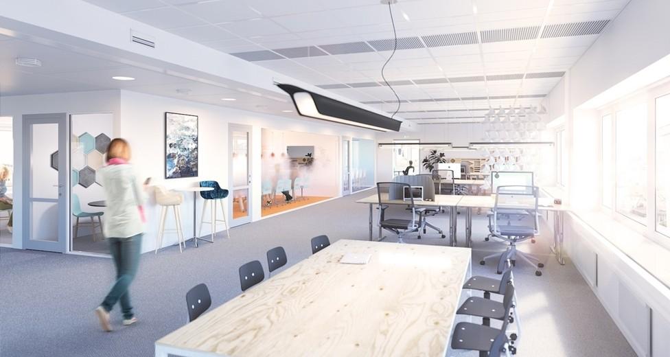Isafjordsgatan 30A-D - visionsbild kontoret