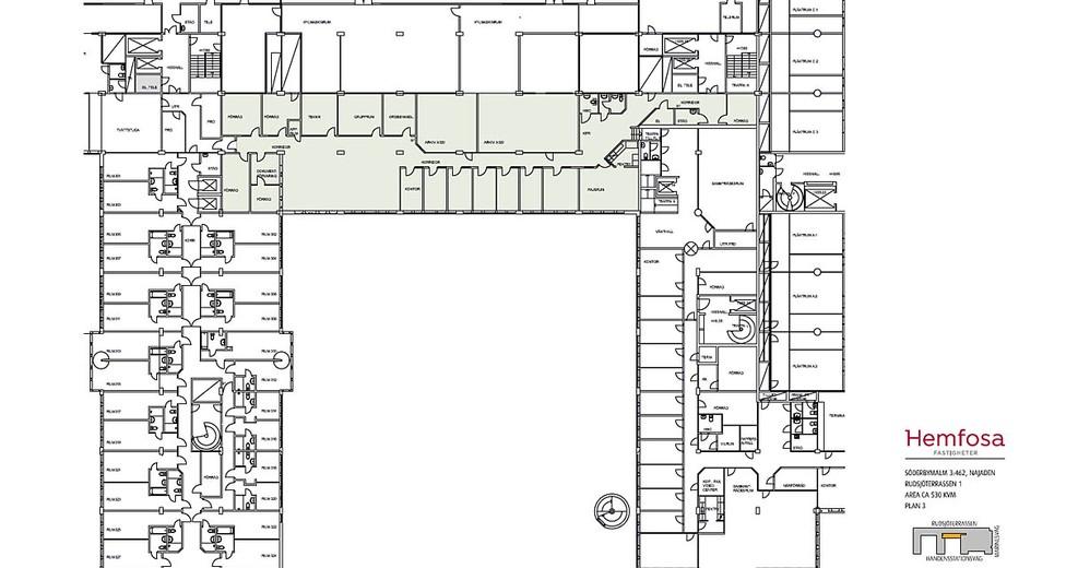 Rudsjöterrassen 5, plan 3