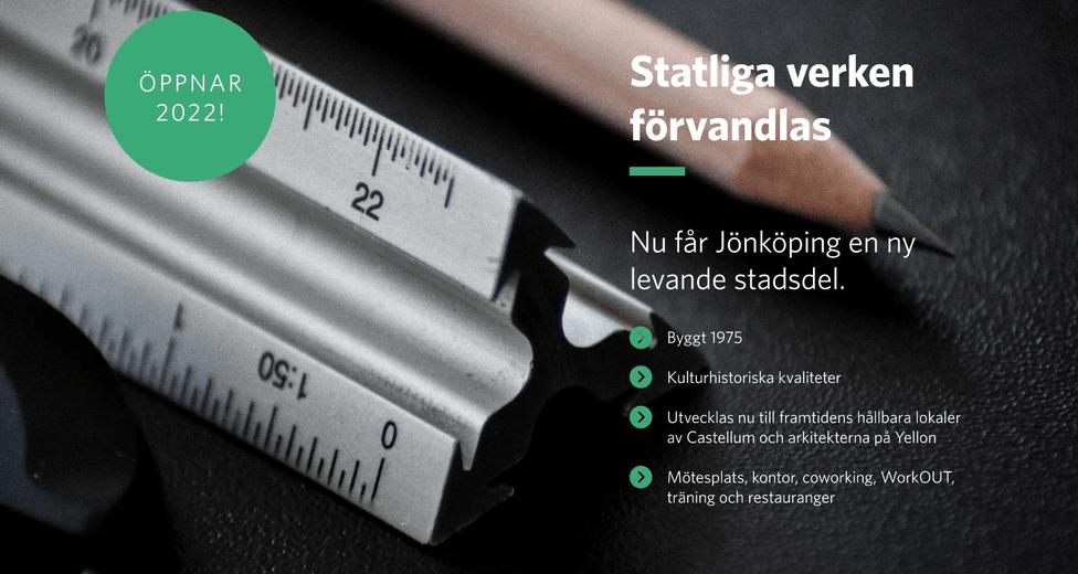 Castellum Werket Jönköping bilder Statliga verken transformeras