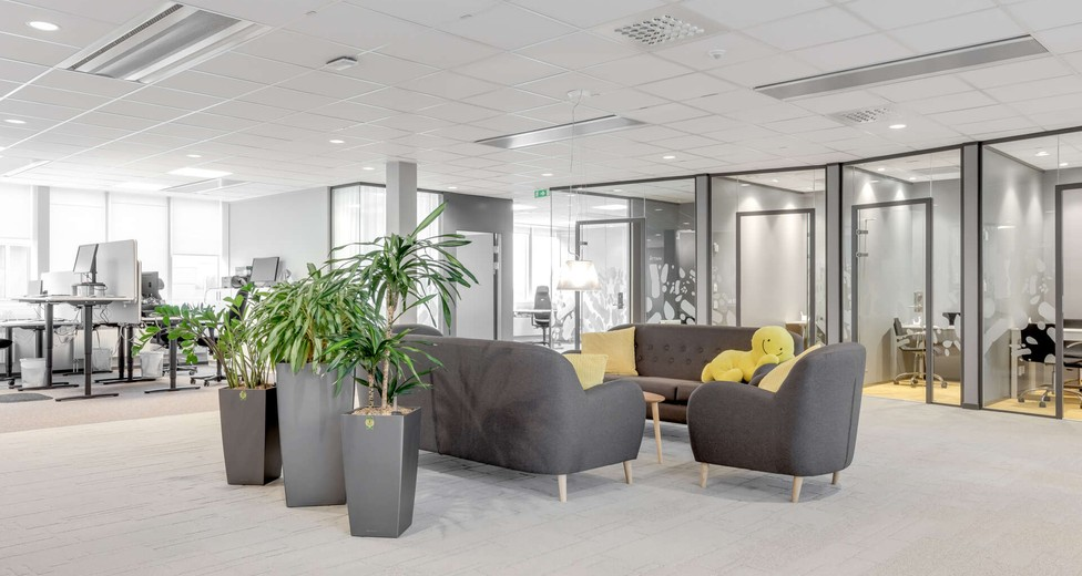 Moderna planlösningar med möjlighet till öppna kontorslandskap