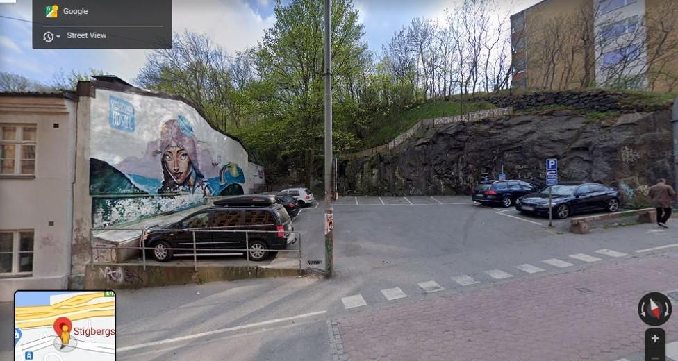 Bild över platsen där fastighet skall uppföras.JPG